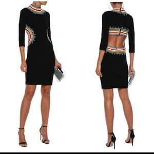 Alice and Olivia Tamson Embroidered Cutout Dress 4